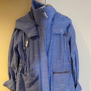 Blue & White Pinstripe Light Spring Jacket